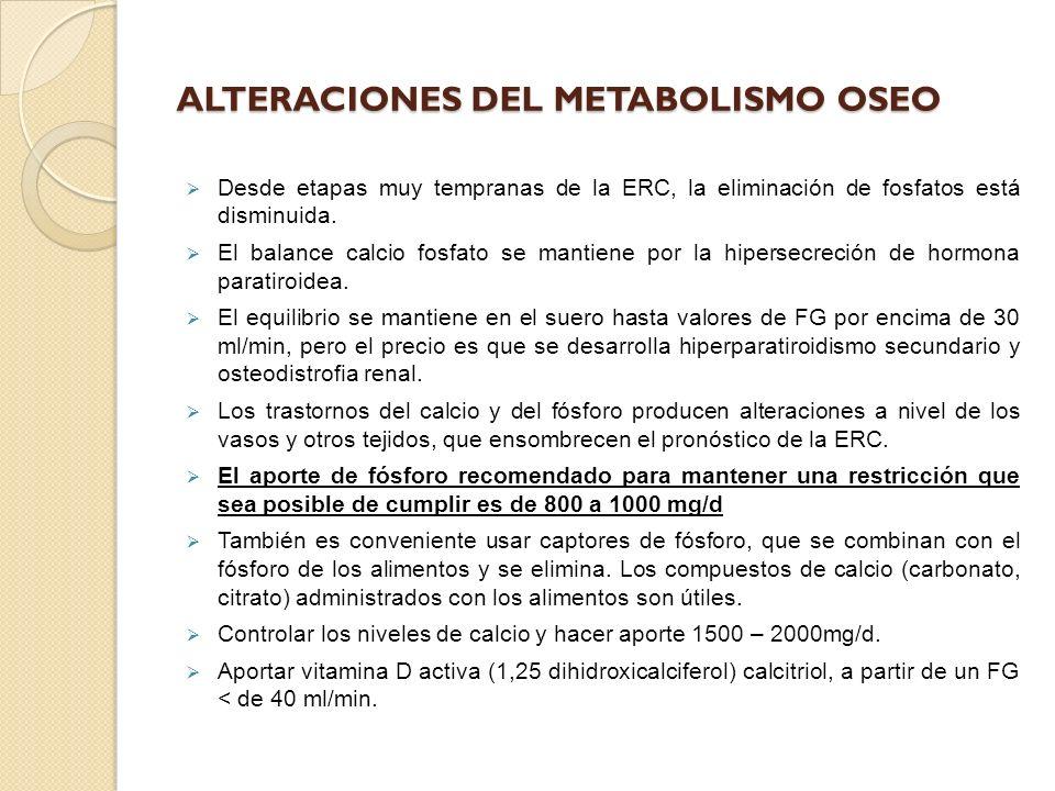 ALTERACIONES DEL METABOLISMO OSEO