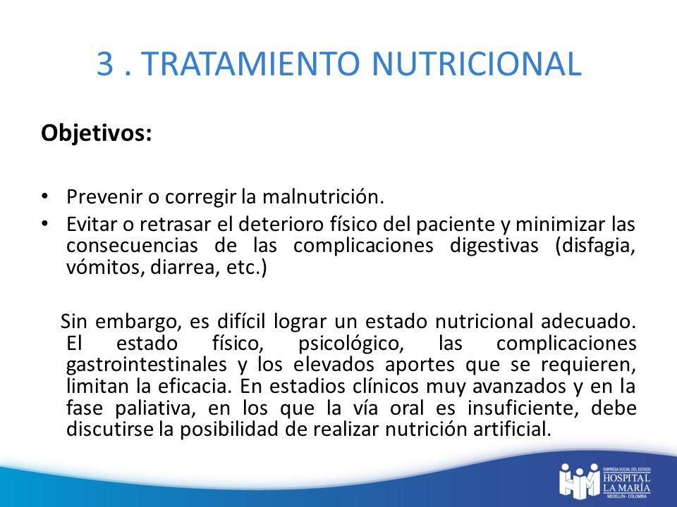 3 . TRATAMIENTO NUTRICIONAL