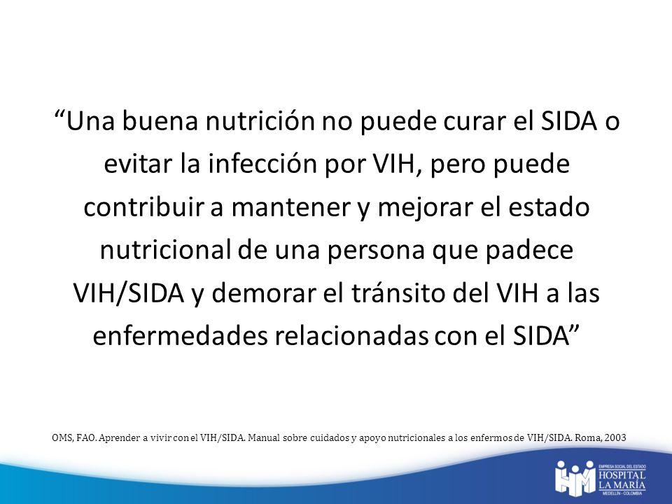 Una buena nutrición no puede curar el SIDA o