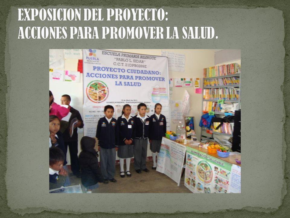 EXPOSICION DEL PROYECTO: ACCIONES PARA PROMOVER LA SALUD.
