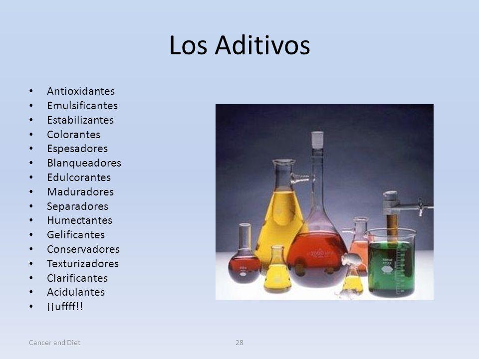 Los Aditivos Antioxidantes Emulsificantes Estabilizantes Colorantes