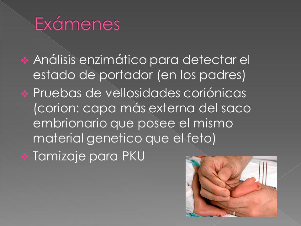 Exámenes Análisis enzimático para detectar el estado de portador (en los padres)