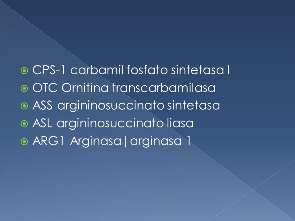 CPS-1 carbamil fosfato sintetasa I