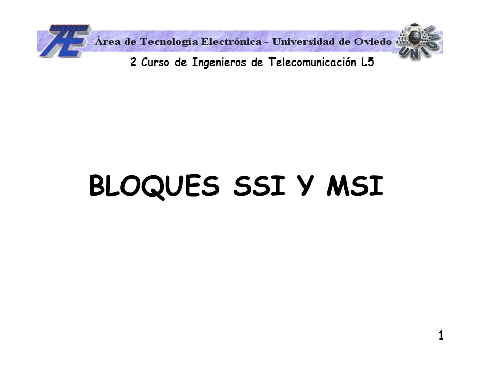 BLOQUES SSI Y MSI