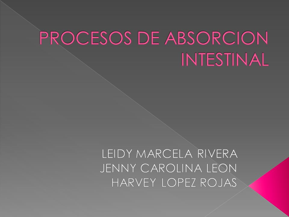 PROCESOS DE ABSORCION INTESTINAL