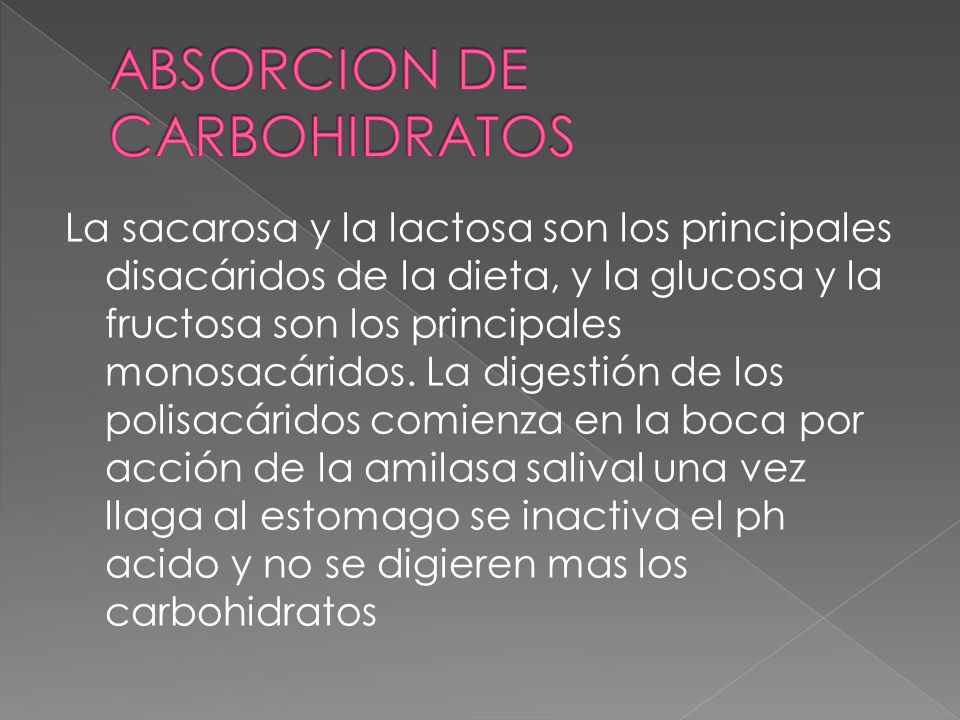ABSORCION DE CARBOHIDRATOS