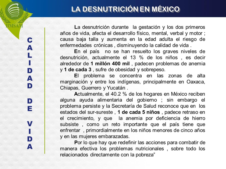 LA DESNUTRICIÓN EN MÉXICO