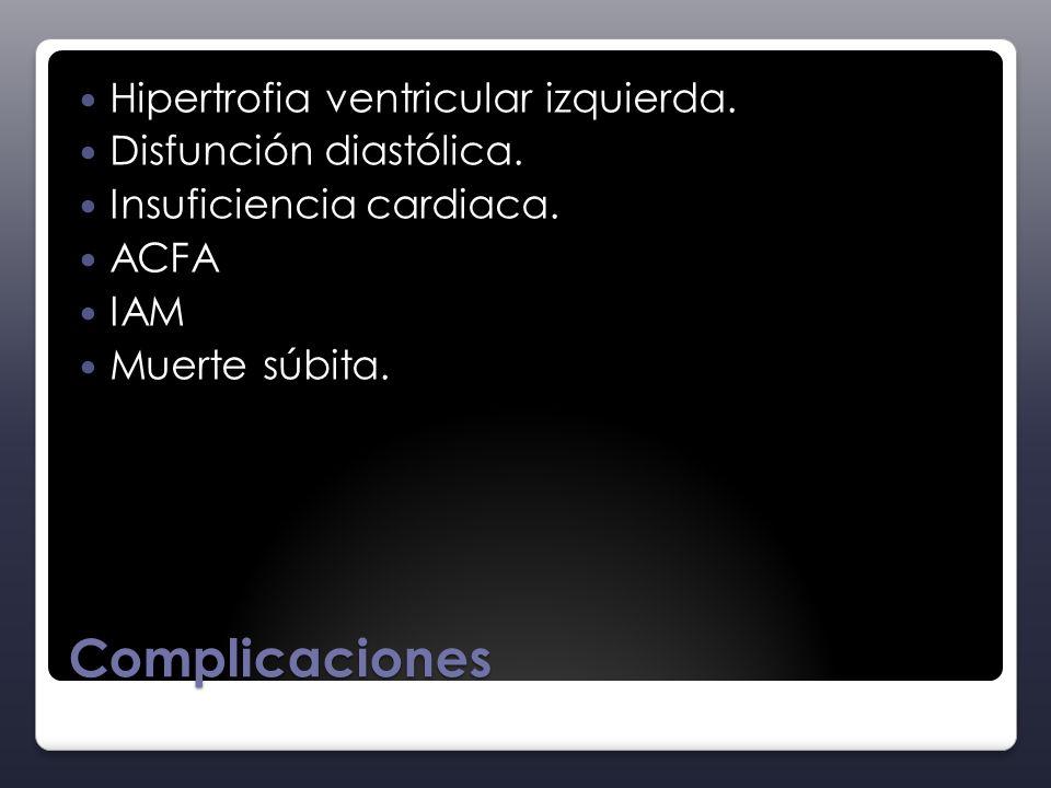 Complicaciones Hipertrofia ventricular izquierda.