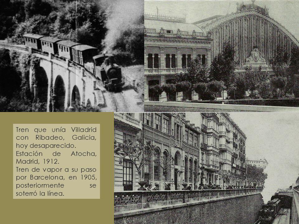 Tren que unía Villadrid con Ribadeo, Galicia, hoy desaparecido.