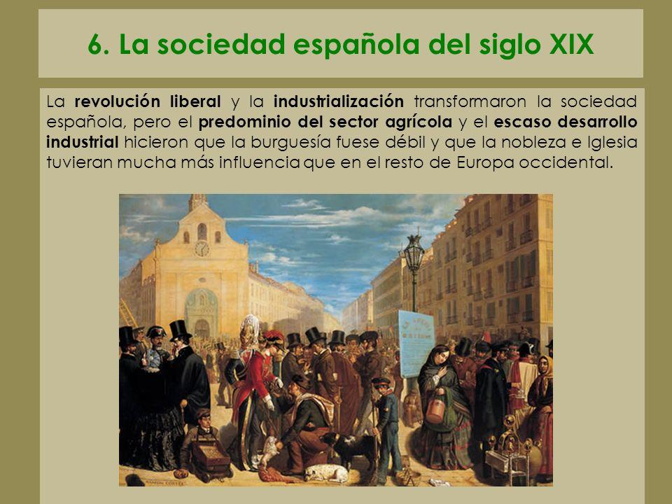 6. La sociedad española del siglo XIX