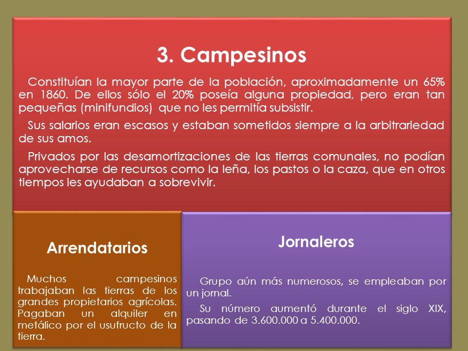 3. Campesinos Arrendatarios Jornaleros