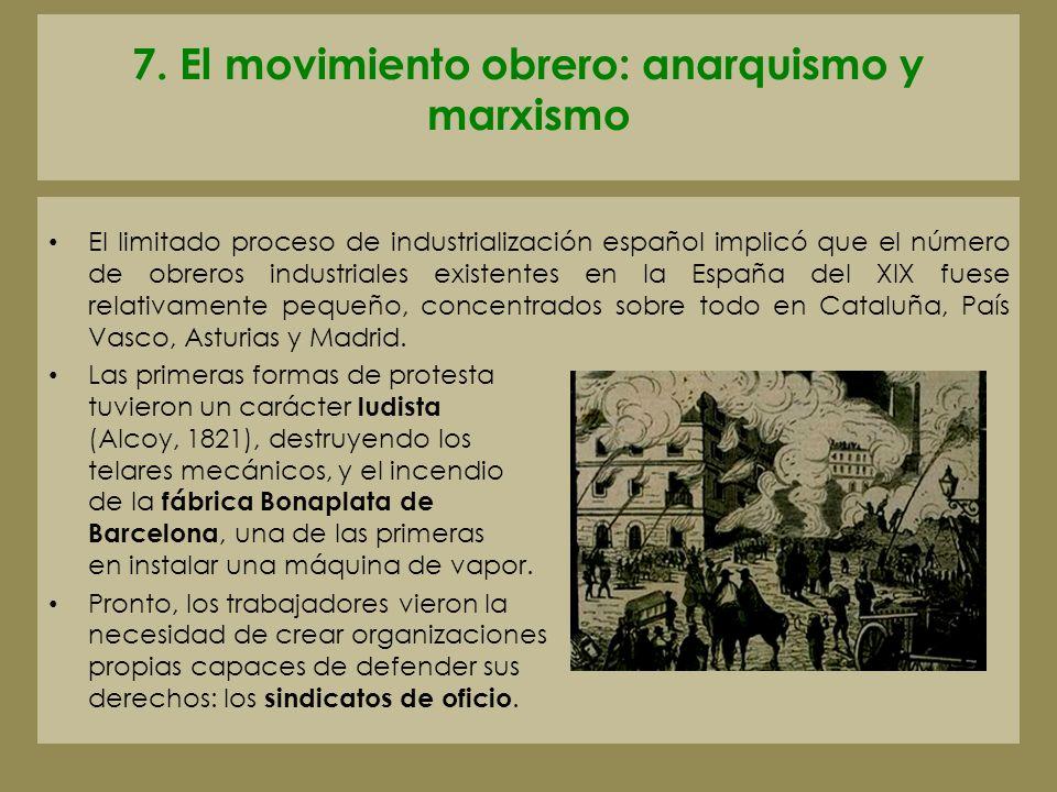 7. El movimiento obrero: anarquismo y marxismo