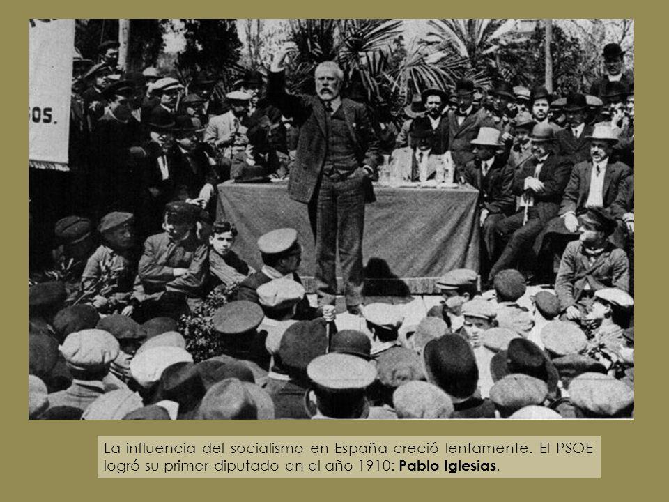 La influencia del socialismo en España creció lentamente