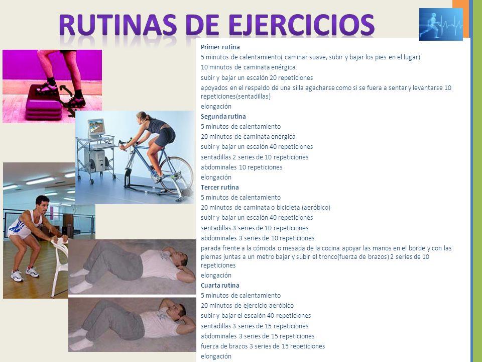 RUTINAS de ejercicios Primer rutina