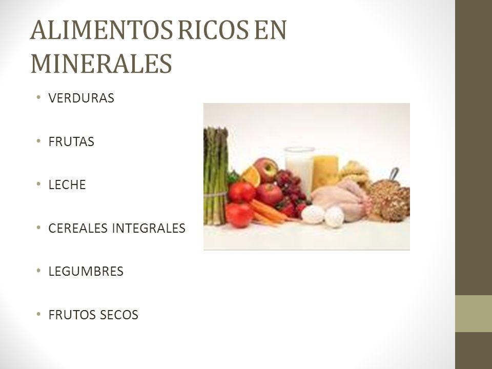 ALIMENTOS RICOS EN MINERALES