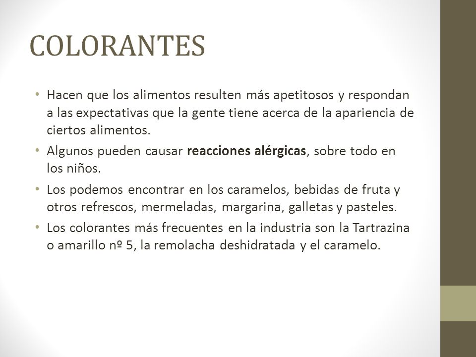 COLORANTES