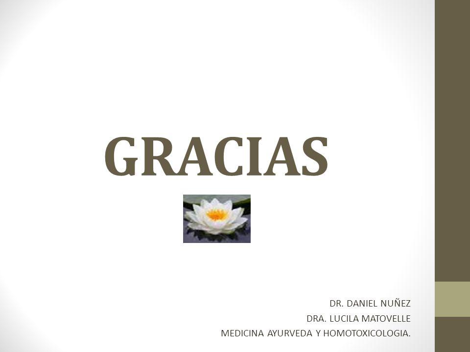 GRACIAS DR. DANIEL NUÑEZ DRA. LUCILA MATOVELLE