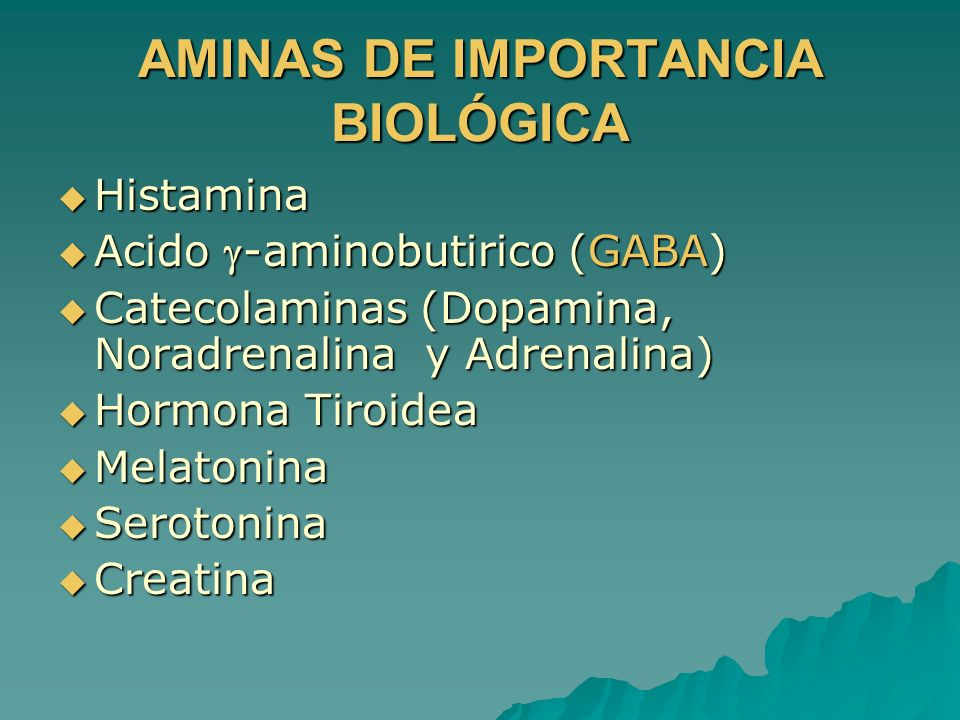 AMINAS DE IMPORTANCIA BIOLÓGICA