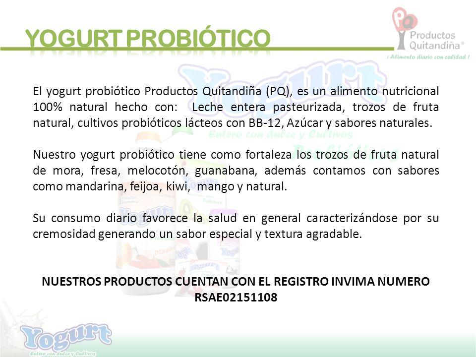 NUESTROS PRODUCTOS CUENTAN CON EL REGISTRO INVIMA NUMERO RSAE02151108
