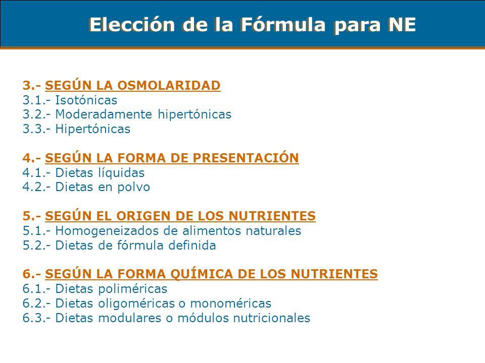 Elección de la Fórmula para NE