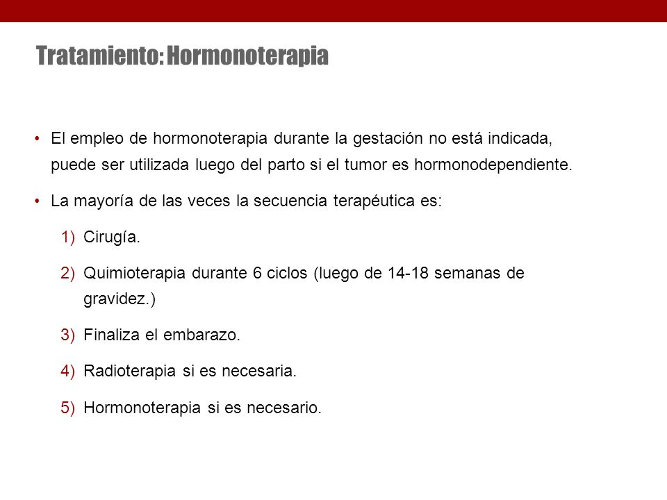 Tratamiento: Hormonoterapia