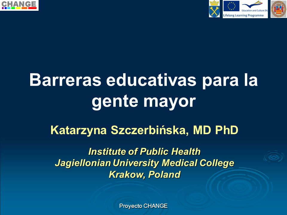Barreras educativas para la gente mayor
