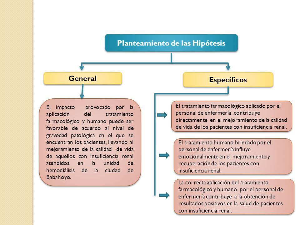 Planteamiento de las Hipótesis