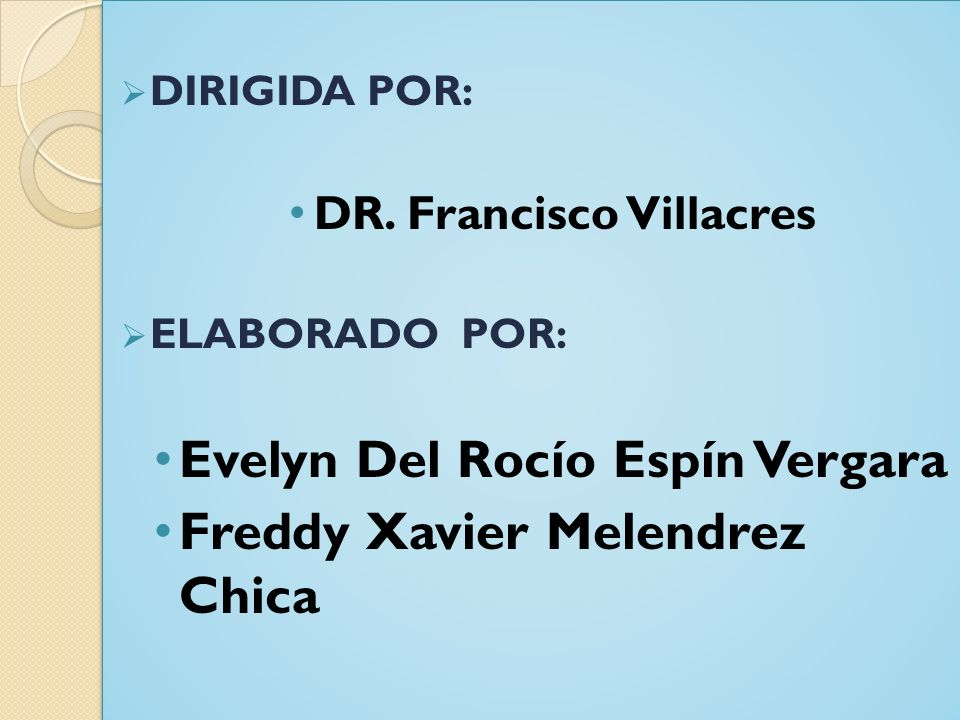 DR. Francisco Villacres