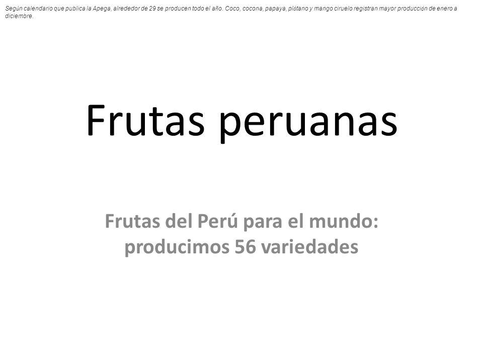Frutas del Perú para el mundo: producimos 56 variedades