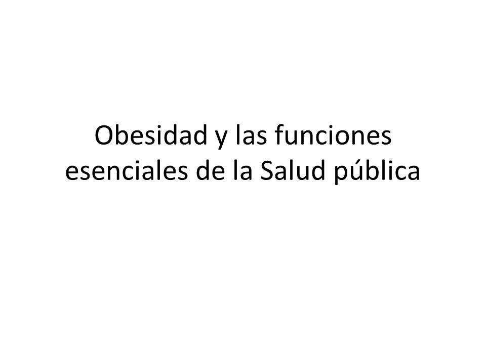 Obesidad y las funciones esenciales de la Salud pública