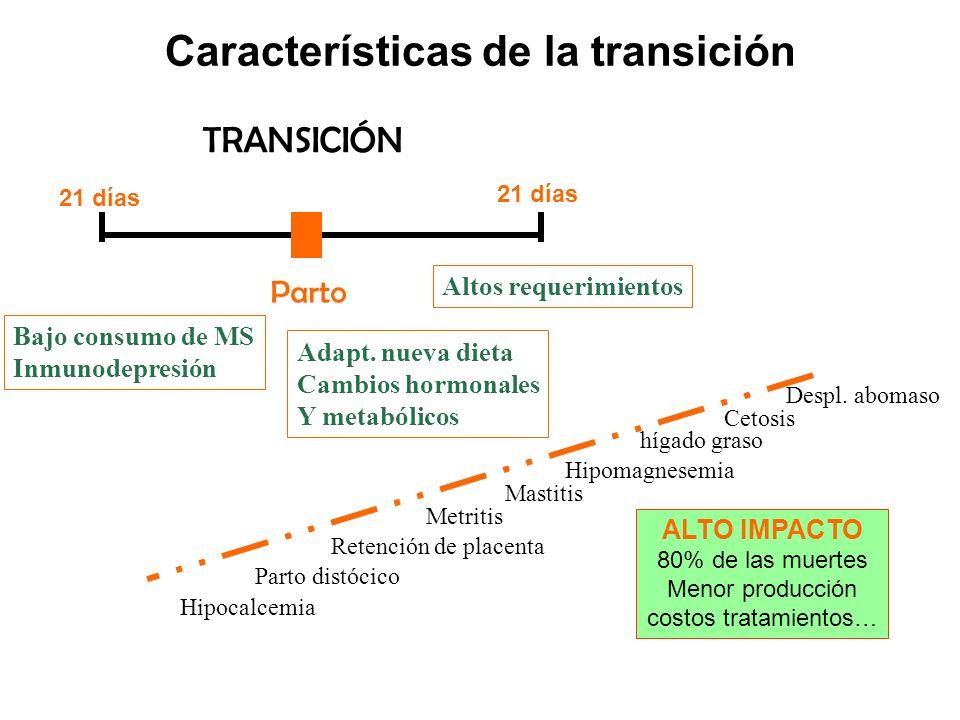 Características de la transición
