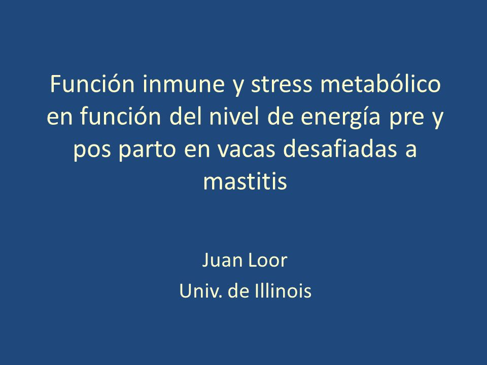 Juan Loor Univ. de Illinois