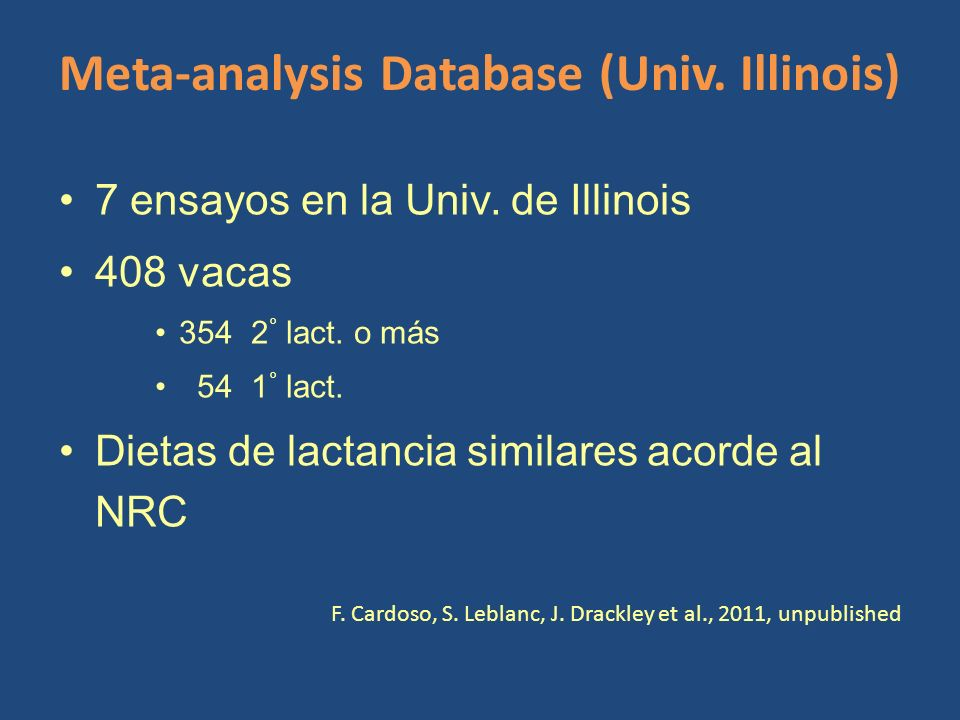 Meta-analysis Database (Univ. Illinois)