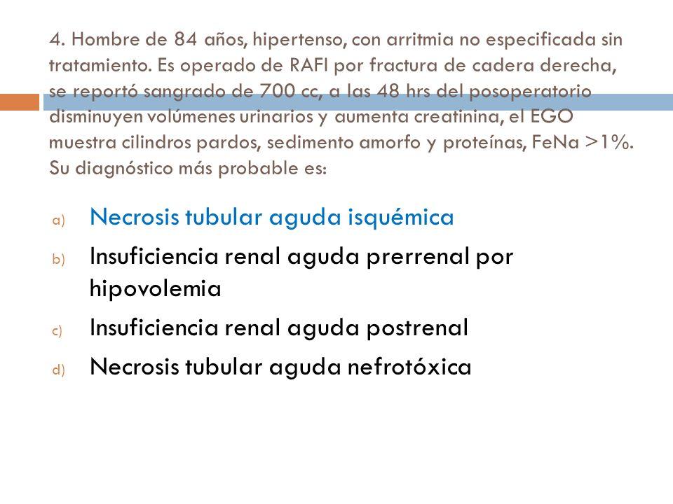 Necrosis tubular aguda isquémica