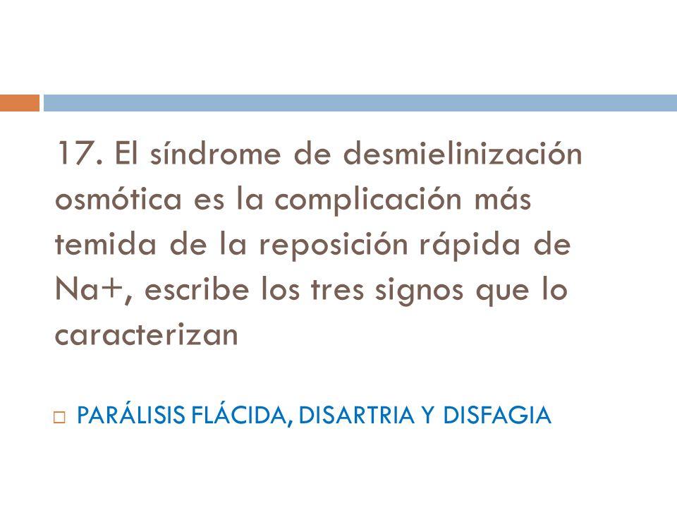 PARÁLISIS FLÁCIDA, DISARTRIA Y DISFAGIA