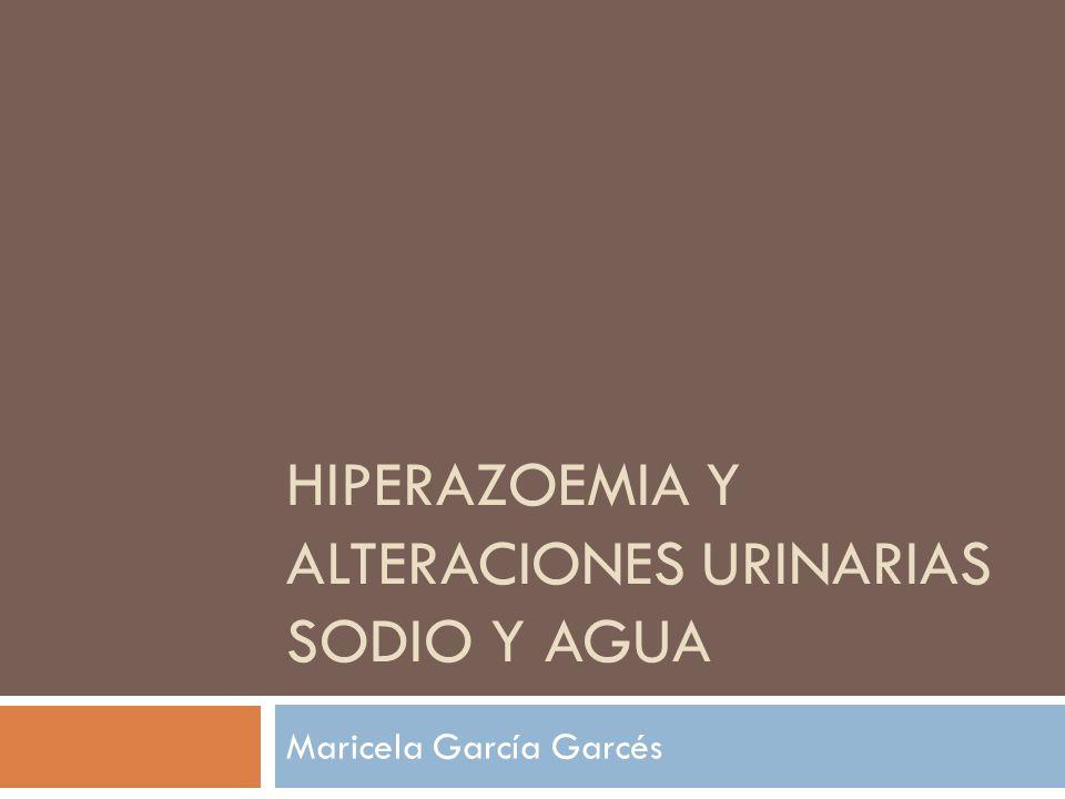 Hiperazoemia y alteraciones urinarias sodio y agua