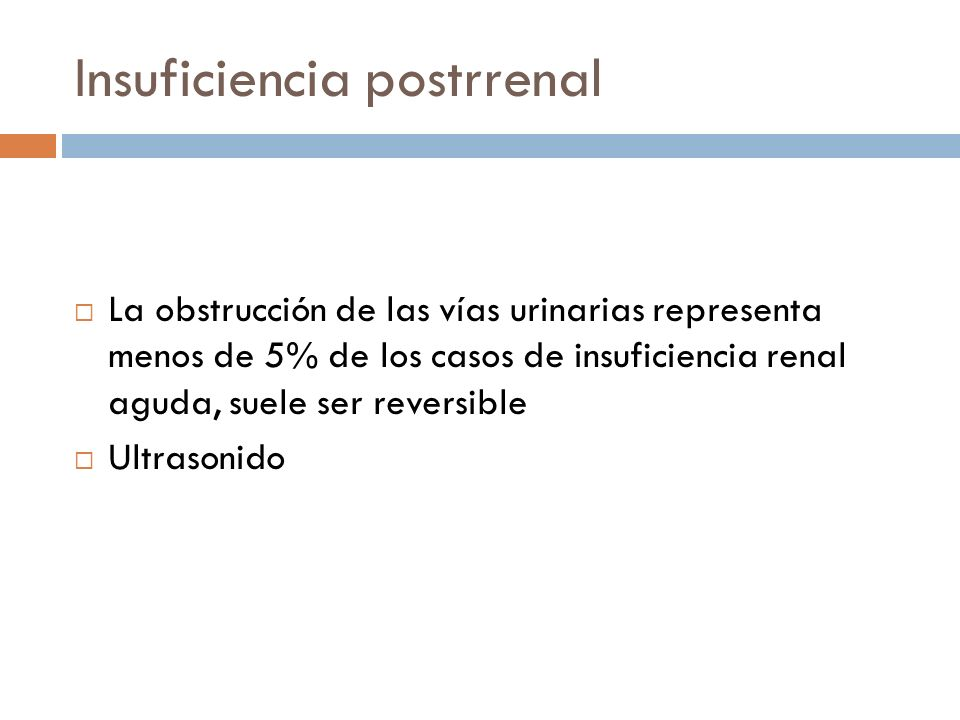 Insuficiencia postrrenal
