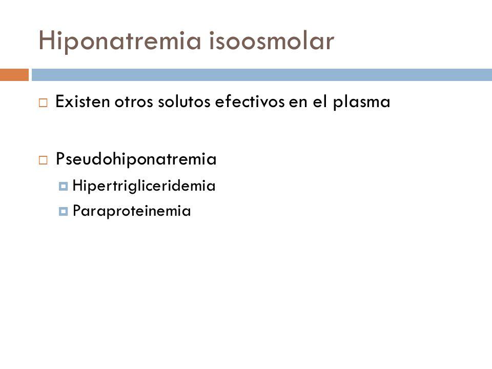 Hiponatremia isoosmolar