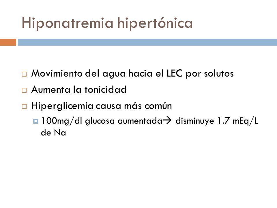 Hiponatremia hipertónica