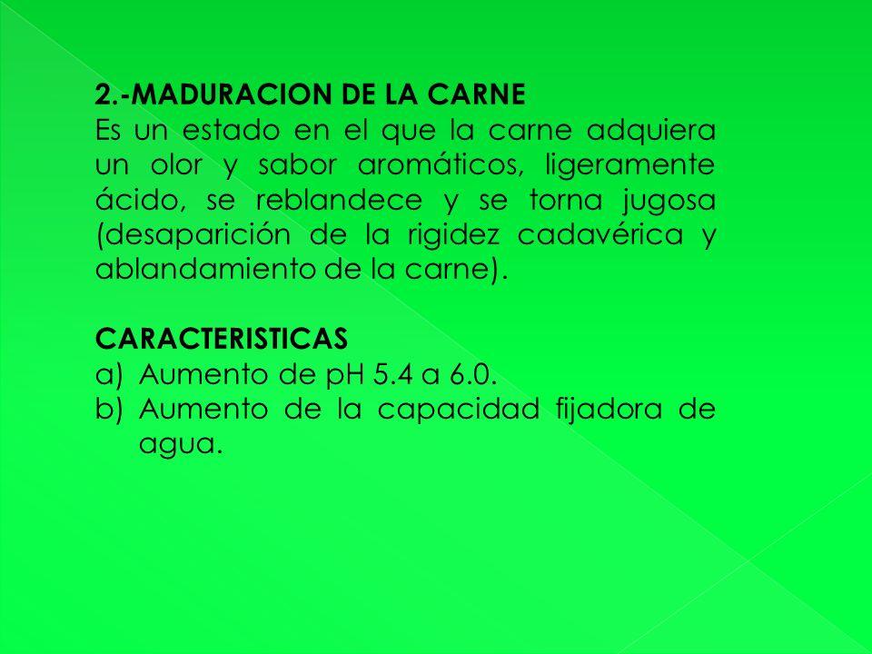 2.-MADURACION DE LA CARNE