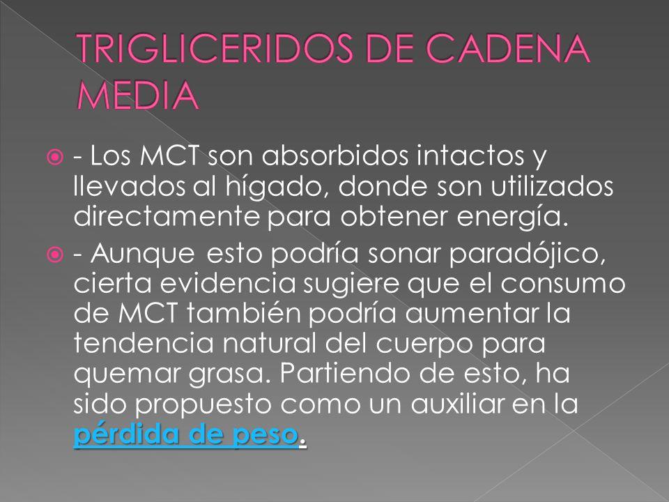 TRIGLICERIDOS DE CADENA MEDIA