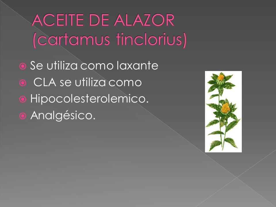 ACEITE DE ALAZOR (cartamus tinclorius)