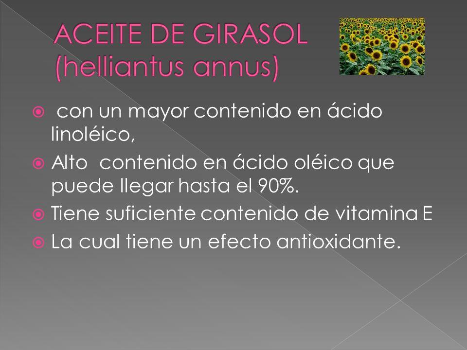 ACEITE DE GIRASOL (helliantus annus)