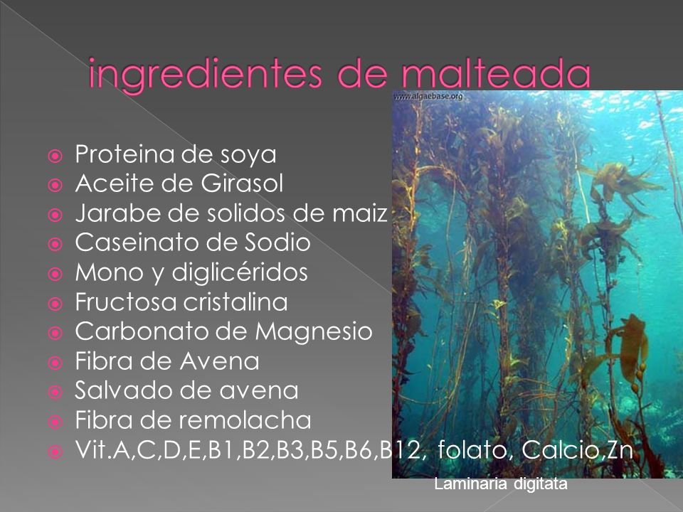ingredientes de malteada