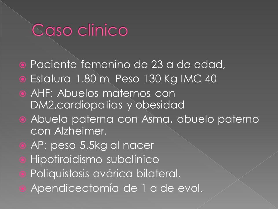 Caso clinico Paciente femenino de 23 a de edad,
