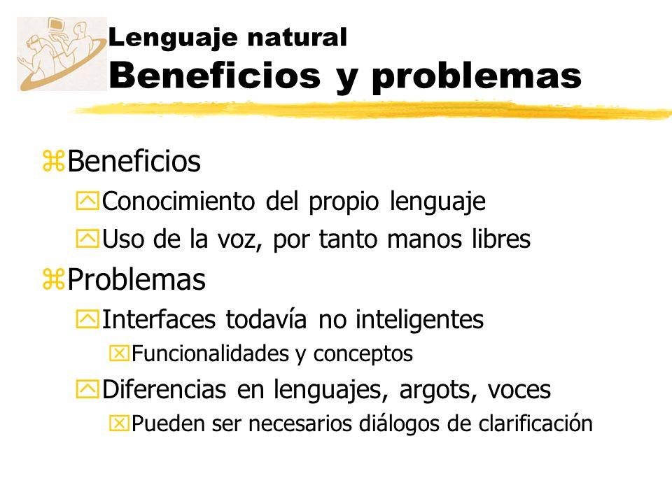 Lenguaje natural Beneficios y problemas