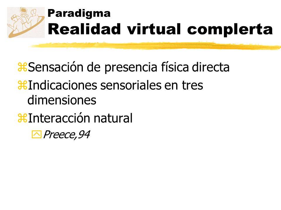 Paradigma Realidad virtual complerta