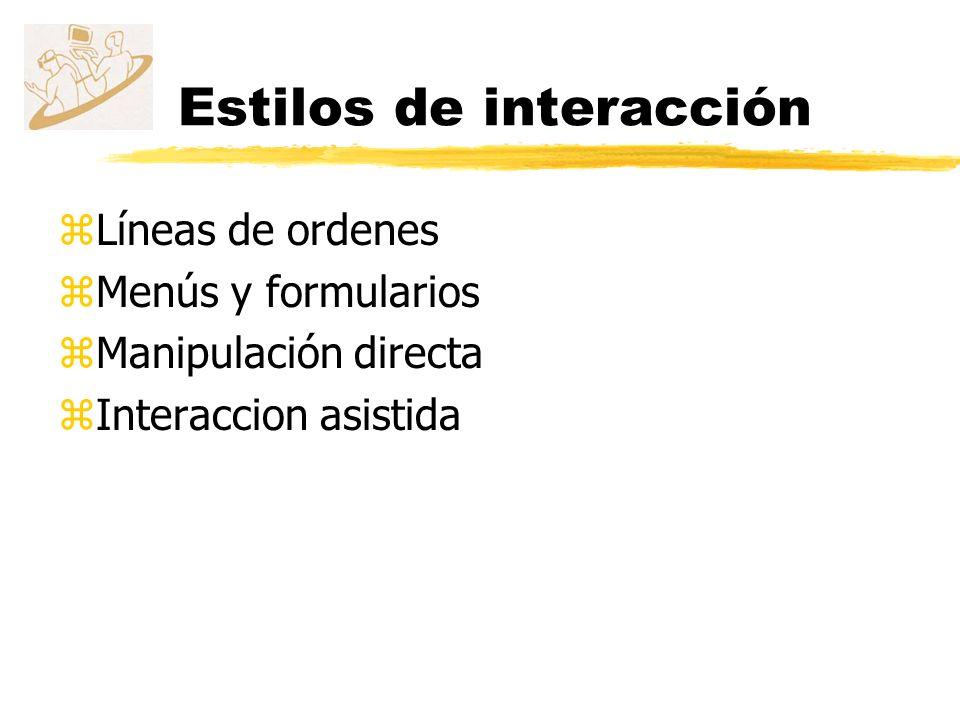 Estilos de interacción