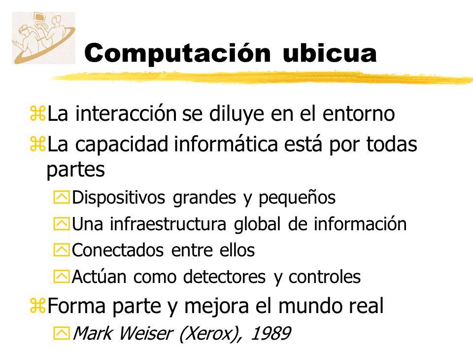 Computación ubicua La interacción se diluye en el entorno