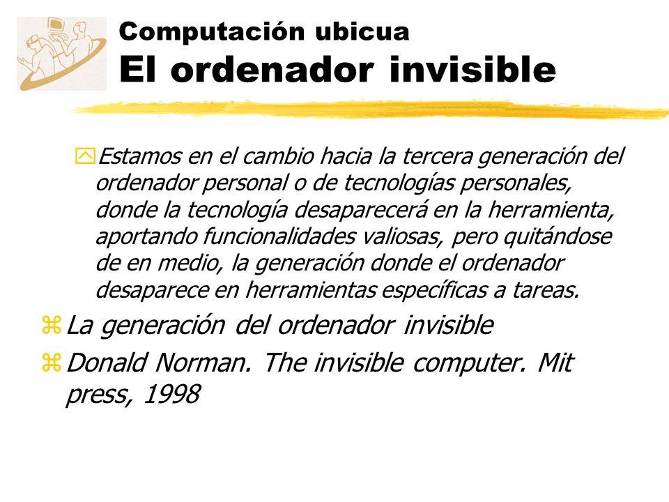 Computación ubicua El ordenador invisible